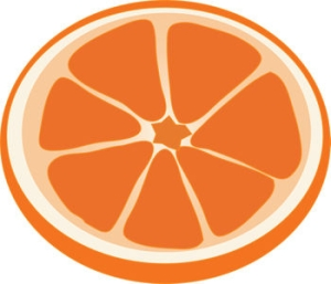 Clipart Illustration of an Orange Slice