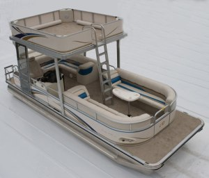 pontoon with an upper deck