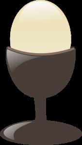egg in a holder