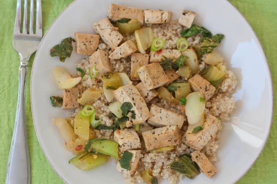 Tofu bok choy stir fry