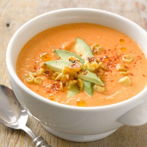corn-tomato soup